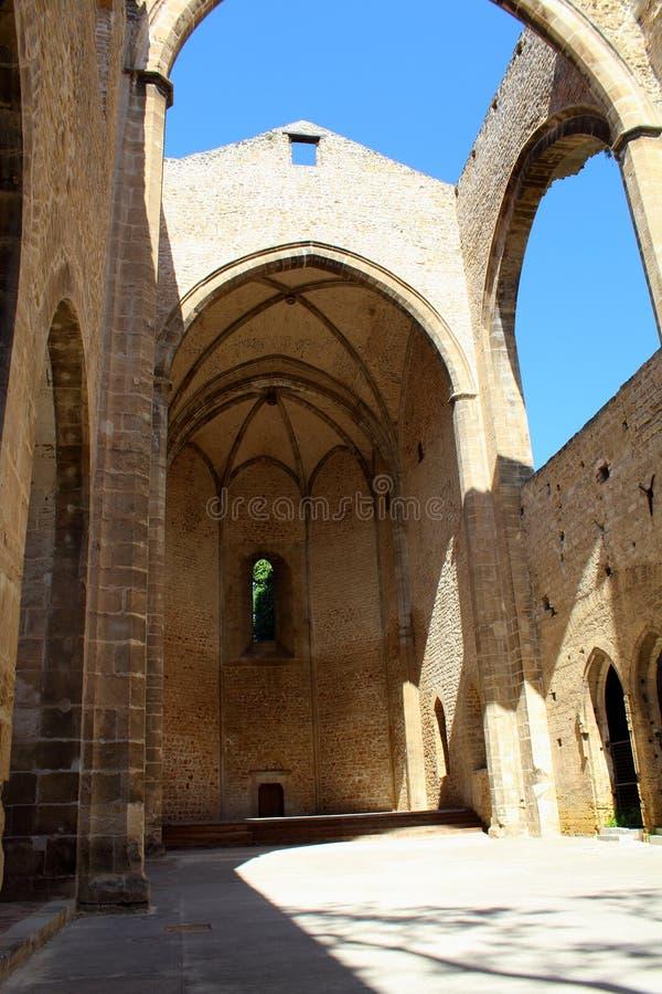 Sikt av kyrkan av Santa Maria allo Spasimo i Palermo, Italien arkivbilder