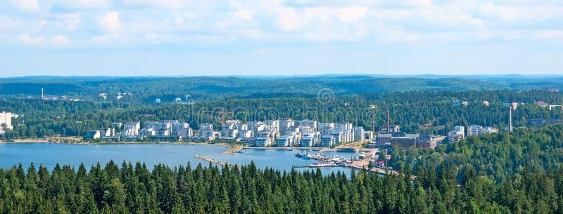 Sikt av Lahti finland arkivbilder