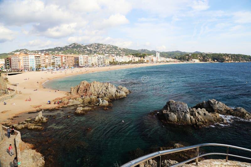 Sikt av lloret de Fördärva catalonia spain arkivfoto