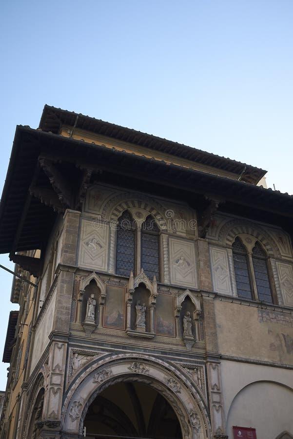 Sikt av Loggia del Bigallo fotografering för bildbyråer