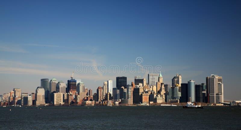 Sikt av Manhattan royaltyfria bilder