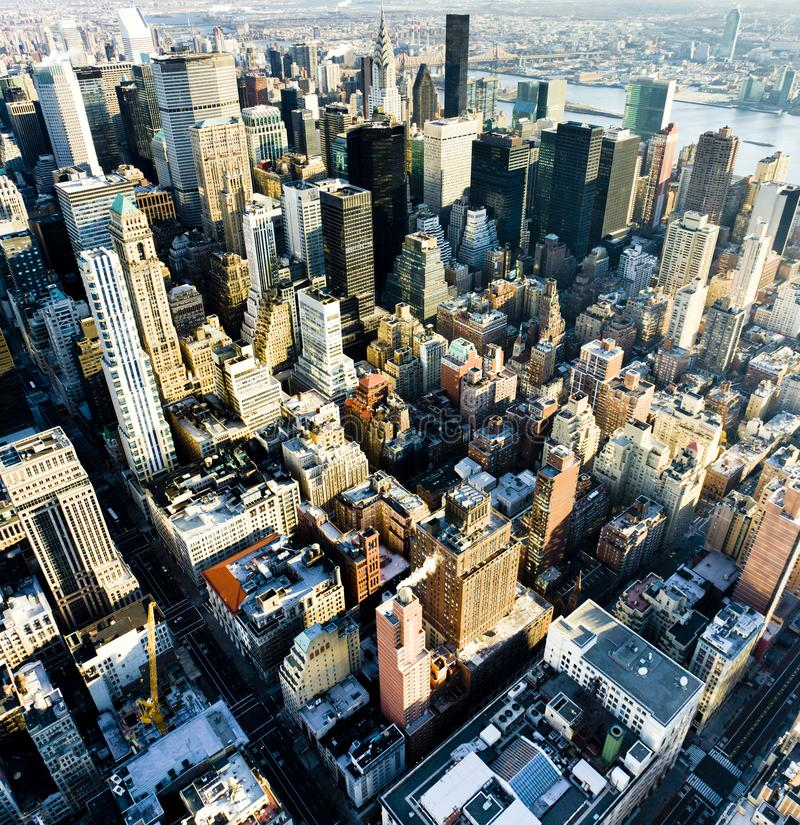 Sikt av Manhattan fr?n Empire State Building, New York City royaltyfri foto