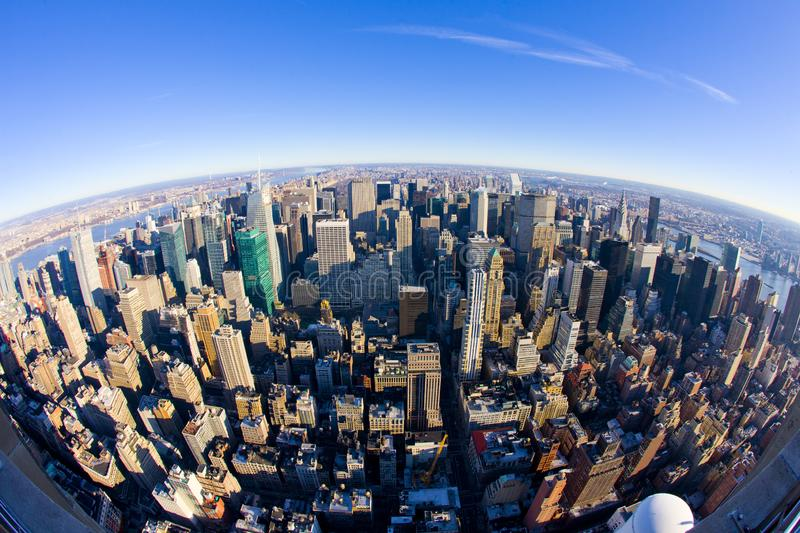 Sikt av Manhattan fr?n Empire State Building, New York City royaltyfri fotografi