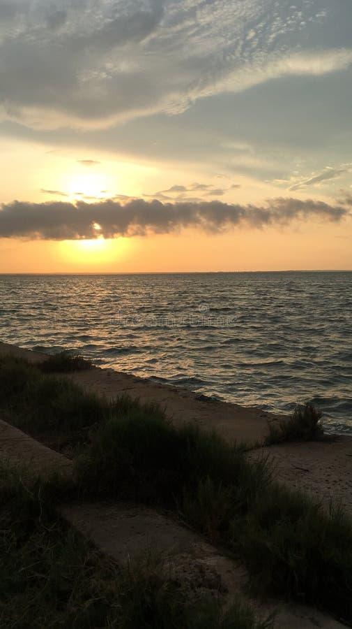 Sikt av Maracaibo sjön royaltyfri bild