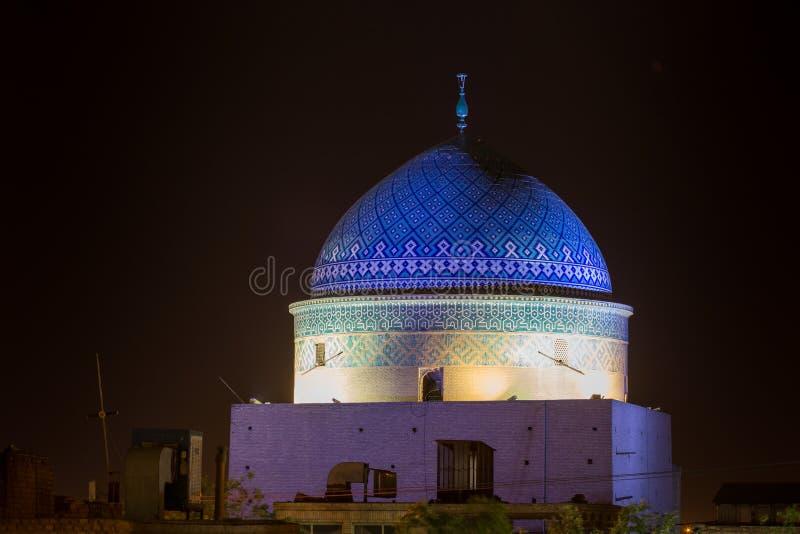 Sikt av Mausolée de Rokn od-Buller, Yazd, arkivbilder