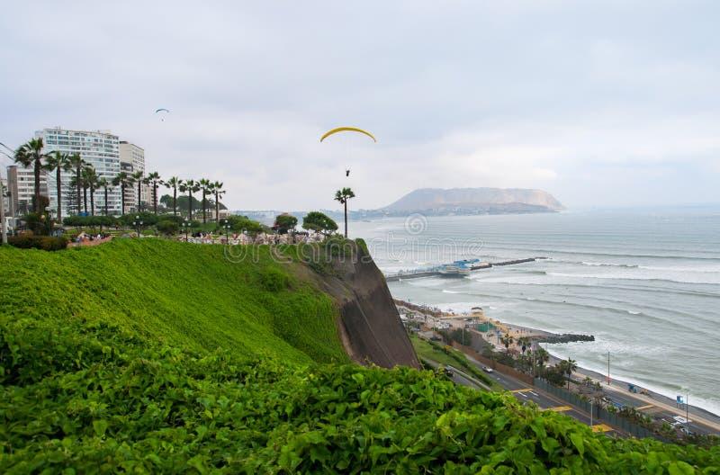 Sikt av Miraflores - Lima - Peru royaltyfri bild