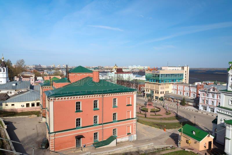 Sikt av mitten Nizhny Novgorod arkivfoton