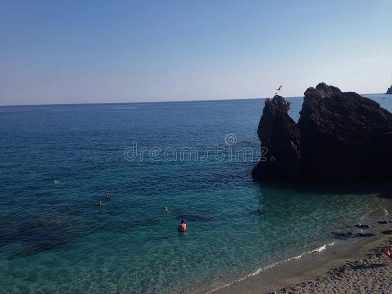 Sikt av Monterosso Al Mare royaltyfri foto