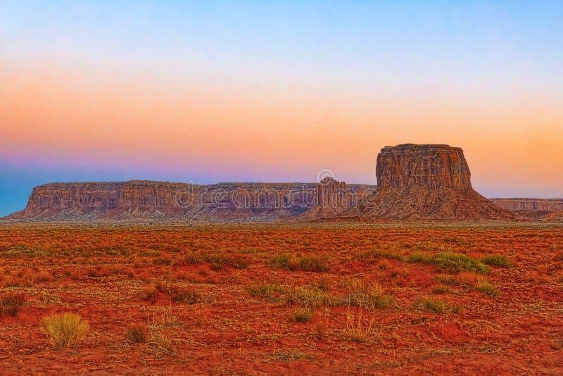 Sikt av monumentdalen i Utah, USA fotografering för bildbyråer