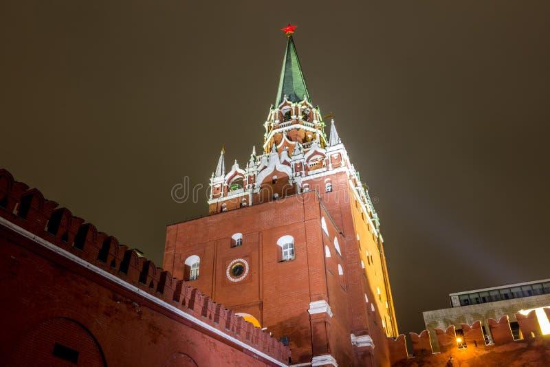 Sikt av Moskva, MoskvaKreml och den Alexander trädgården, royaltyfria bilder