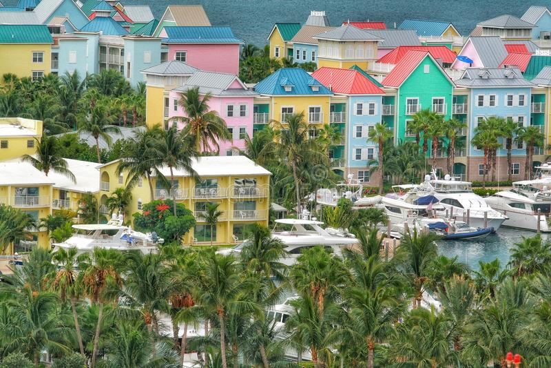 Sikt av Nassau, Bahamas royaltyfria bilder