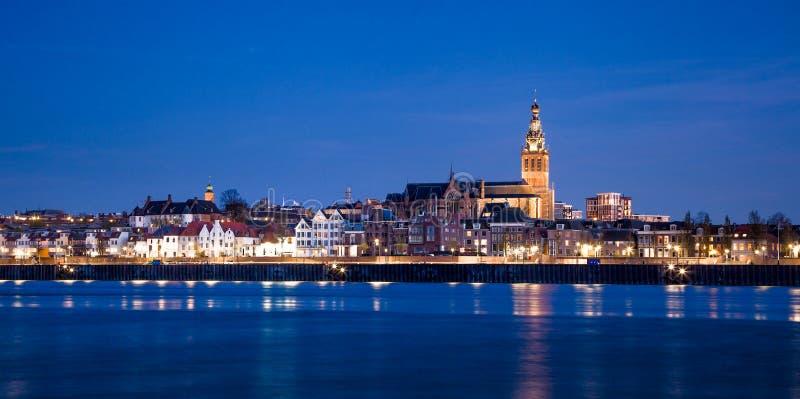 Sikt av Nijmegen arkivfoto