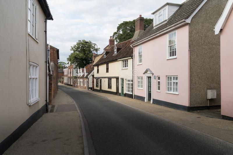 Sikt av Northgate, Beccles, Suffolk, UK royaltyfri foto