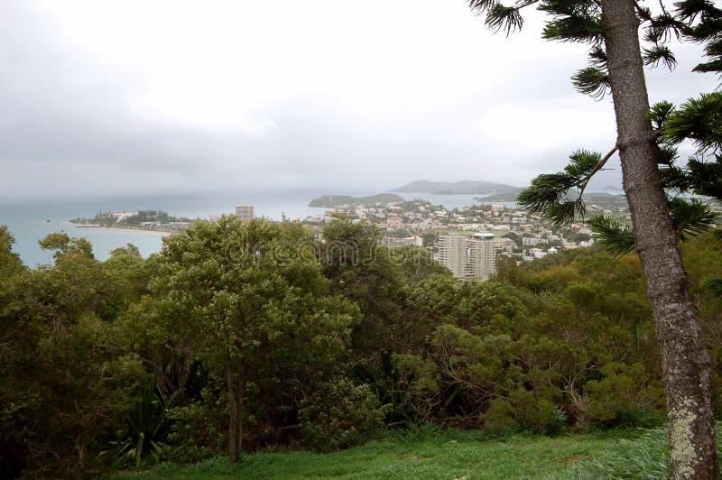 Sikt av Noumea, Nya Kaledonien royaltyfria bilder