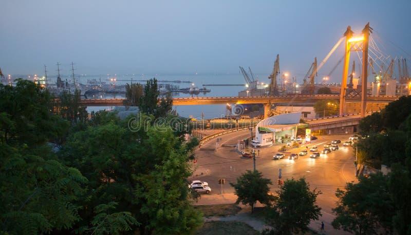 Sikt av Odessa arkivfoto