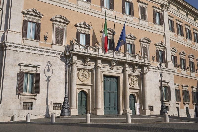 Sikt av Palazzo Montecitorio fotografering för bildbyråer