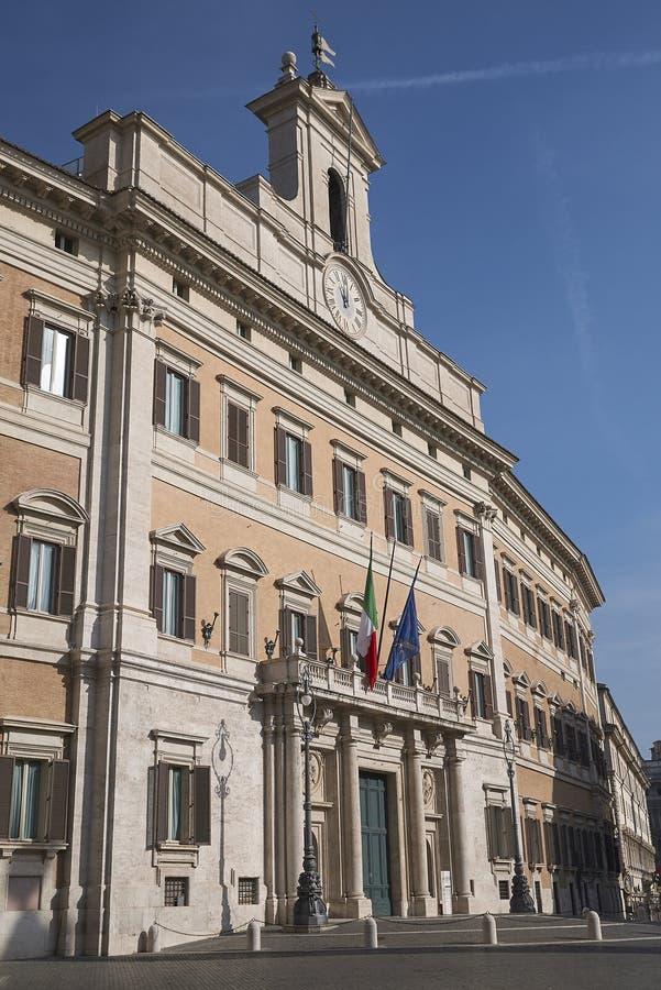 Sikt av Palazzo Montecitorio royaltyfria foton