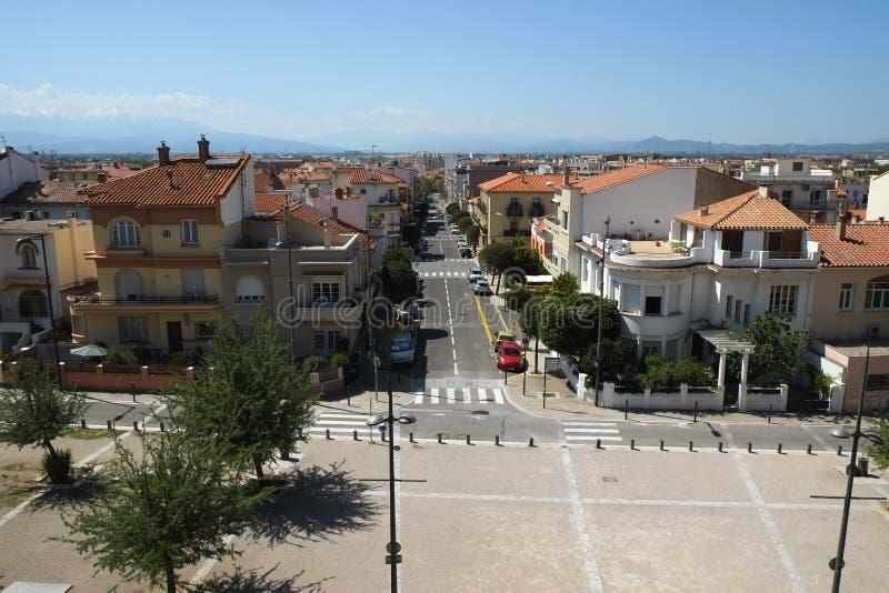 Sikt av Perpignan, Frankrike fotografering för bildbyråer