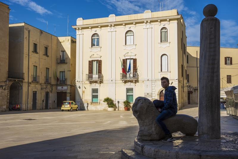 Sikt av Piazza del Merkantil arkivbilder