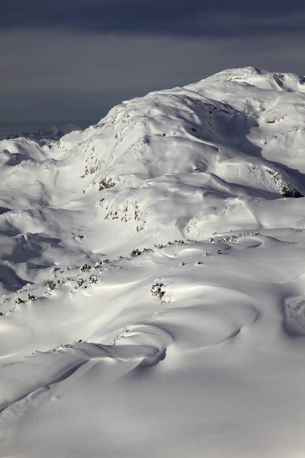 Sikt av platån Dachstein-Krippenstein arkivfoton