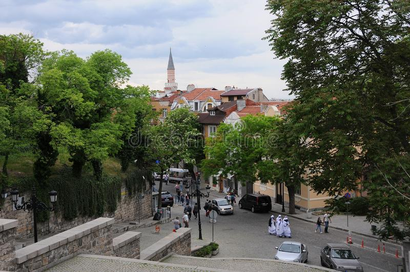 Sikt av Plovdiv den gamla staden royaltyfri foto