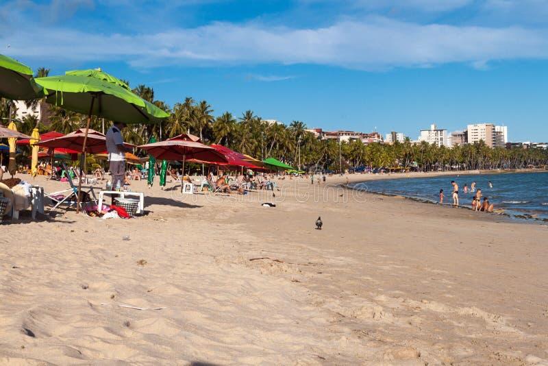 Sikt av Ponta Verde arkivbild