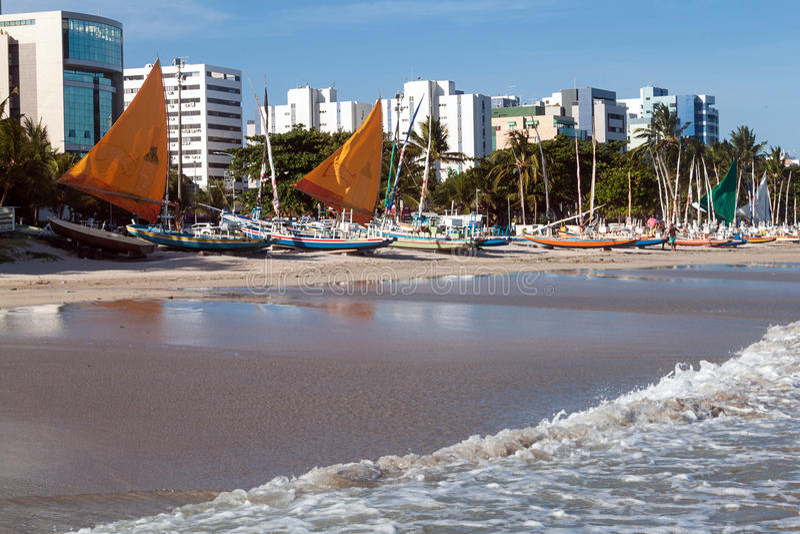 Sikt av Ponta Verde royaltyfria foton