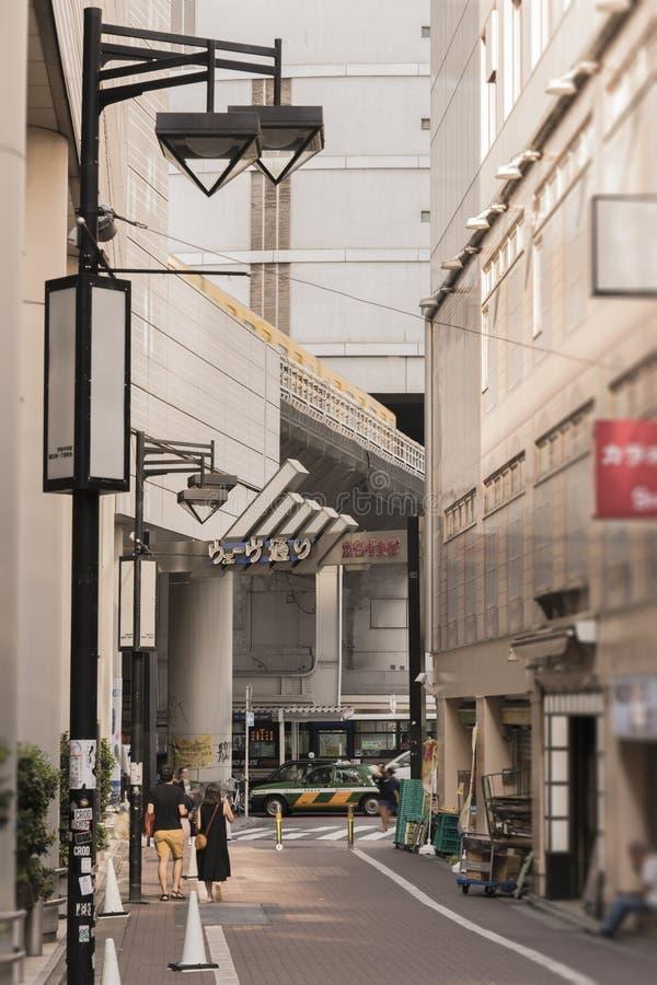 Sikt av portalen av våggatan som markerar ingången t arkivbilder