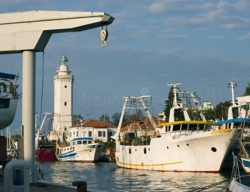 Download Sikt av porten av Rimini fotografering för bildbyråer. Bild av nautiskt - 27275335