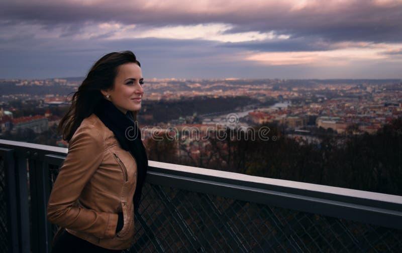 Sikt av Prague arkivbild