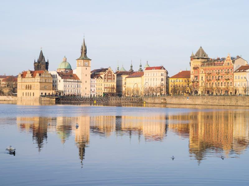 Sikt av Prague, Tjeckien royaltyfri foto