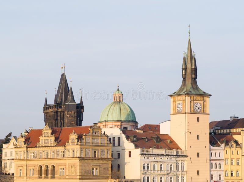 Sikt av Prague, Tjeckien arkivfoton