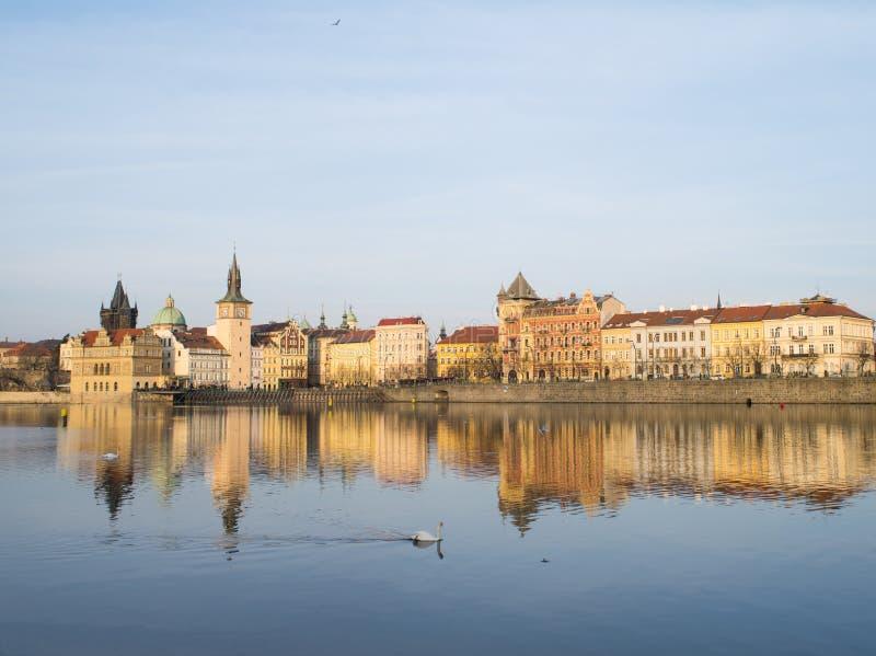 Sikt av Prague, Tjeckien arkivfoto
