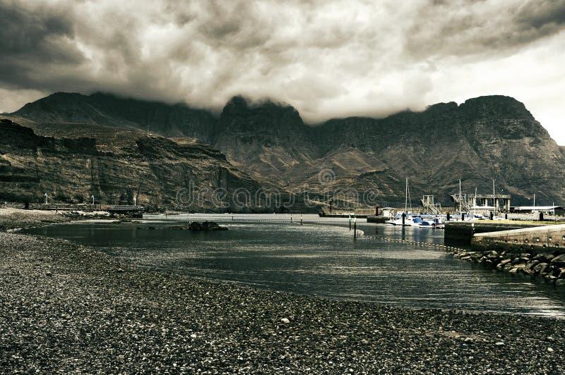 Sikt av Puerto de las Nieves i Gran Canaria, Spanien royaltyfria bilder