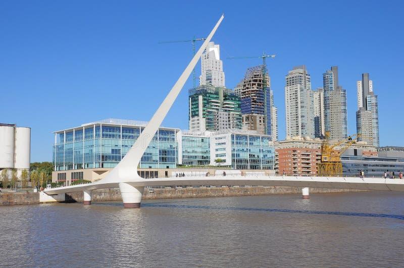 Sikt av Puerto Madero, Buenos Aires arkivbilder