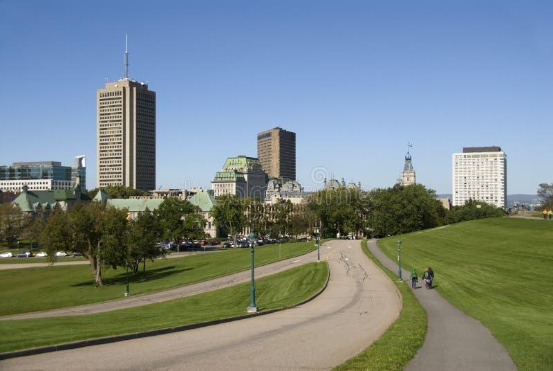 Sikt av Quebec City. arkivbild