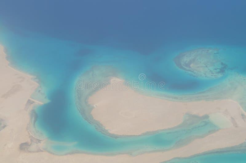 Sikt av Röda havet från höjd royaltyfria bilder