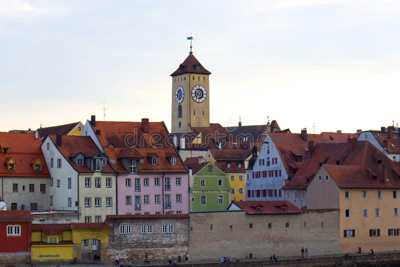 Sikt av Regensburg, Tyskland royaltyfria bilder