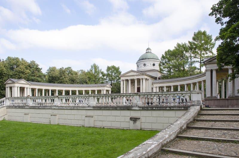 Sikt av regionen Ryssland för museum-gods Arkhangelskoe Moskva royaltyfri foto