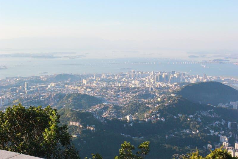 Sikt av Rio de Janeiro uppifrån royaltyfria foton