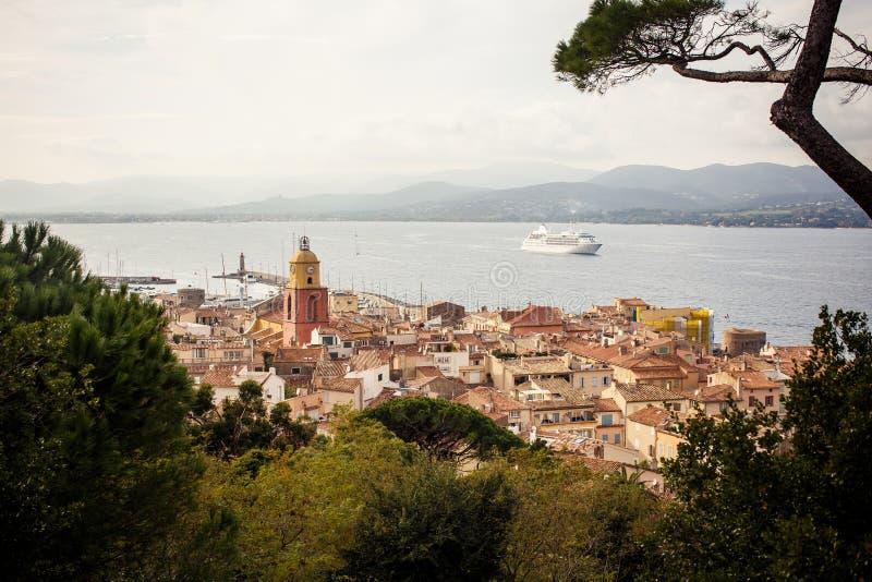 Sikt av Saint Tropez royaltyfri fotografi