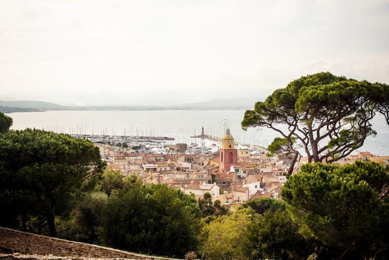 Sikt av Saint Tropez arkivfoto
