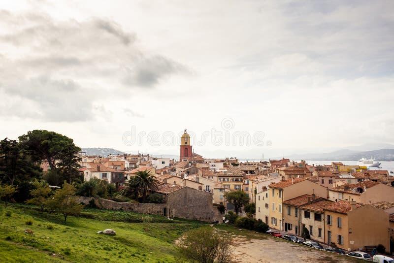 Sikt av Saint Tropez arkivbild