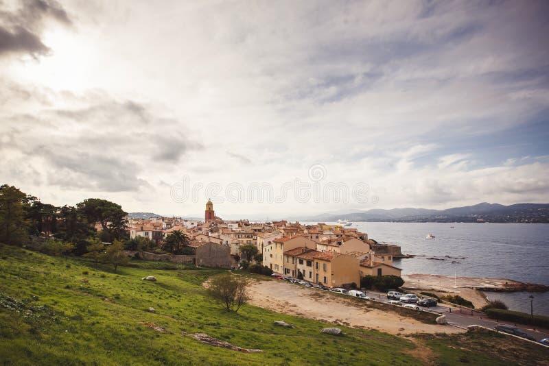 Sikt av Saint Tropez arkivbilder
