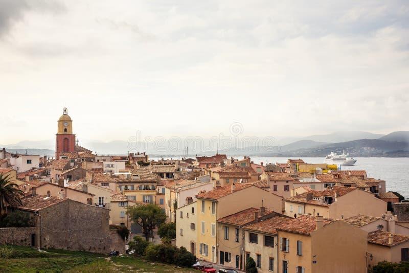 Sikt av Saint Tropez fotografering för bildbyråer