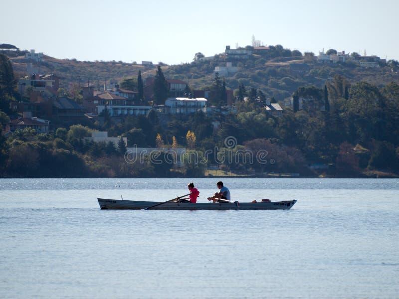 Sikt av San Roque Lake arkivbild