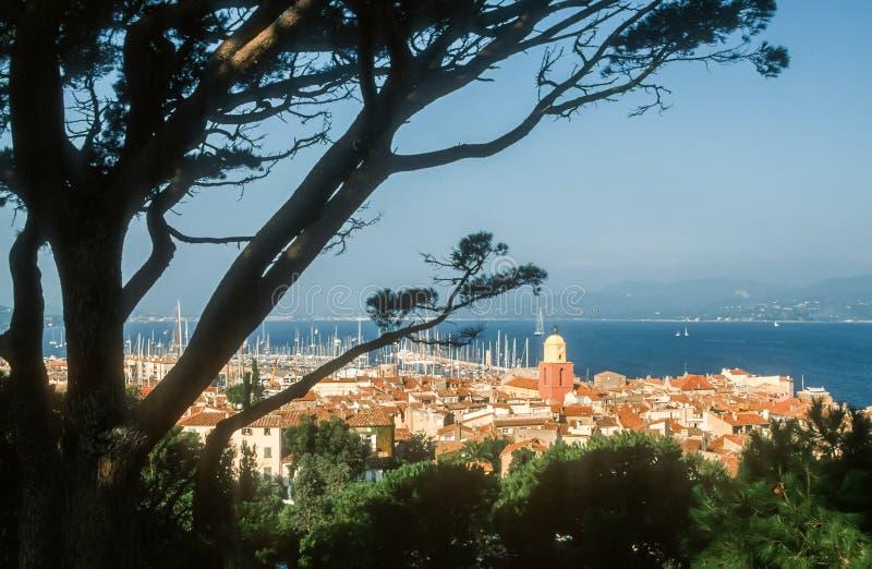 Sikt av Sanktt Tropez arkivbilder