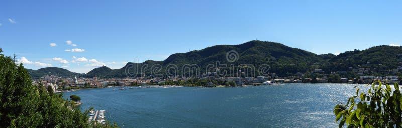 Sikt av sjön Como, Italien, Europa arkivfoton
