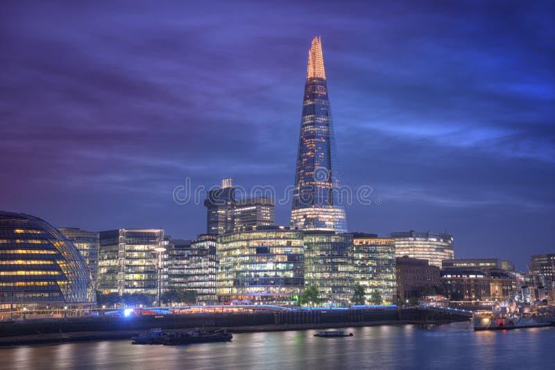 Sikt av skärvan, London, Förenade kungariket royaltyfria foton