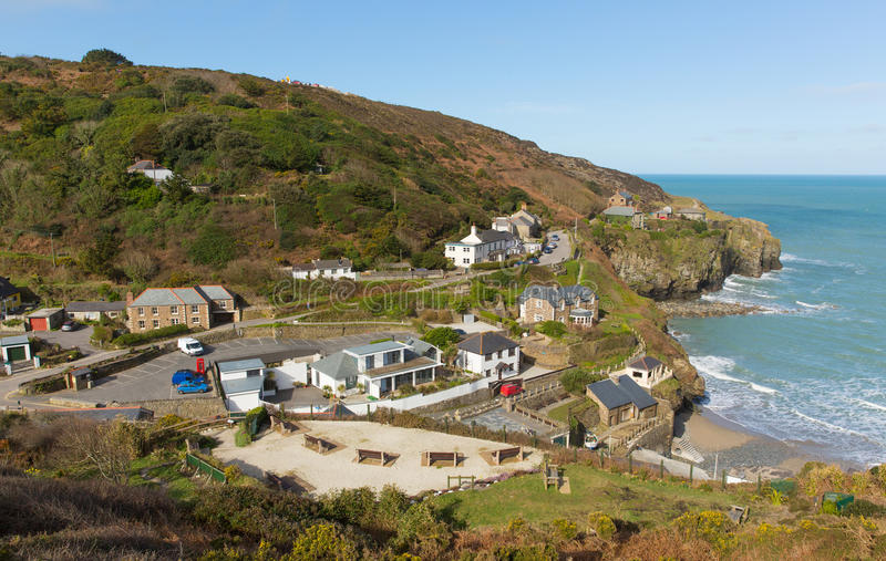 Sikt av St Agnes North Cornwall England UK arkivbild